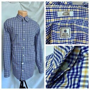 Peter Millar Large Plaid Casual Dress Shirt L